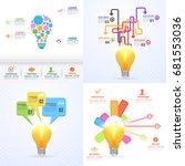 bulb vector infographics... | Shutterstock .eps vector #681553036