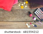 women's clothing and cosmetics  ... | Shutterstock . vector #681554212
