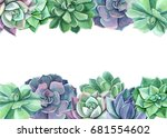 watercolor. greeting card ... | Shutterstock . vector #681554602