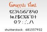 graffiti font numbers   symbols