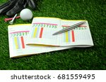 Blank Golf Score Card With Pen