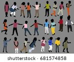 isolated  flat style  children ... | Shutterstock . vector #681574858
