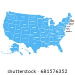 united states of america with... | Shutterstock .eps vector #681576352