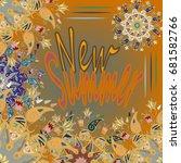 new summer   zentangle inspired ... | Shutterstock .eps vector #681582766