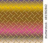 metal grid pattern for design... | Shutterstock .eps vector #681582862