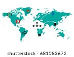 flat design world map... | Shutterstock .eps vector #681583672