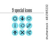 vector illustration of 9... | Shutterstock .eps vector #681585232
