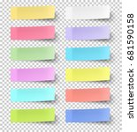 vector color sticky notes... | Shutterstock .eps vector #681590158