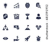 set of 16 strategy icons set... | Shutterstock .eps vector #681591952
