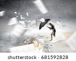 overcoming challenges and... | Shutterstock . vector #681592828
