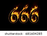 Fire Number 666 Isolated On...