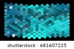 abstract geometric pattern... | Shutterstock .eps vector #681607225