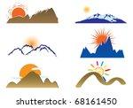 mount and sun. vector | Shutterstock .eps vector #68161450