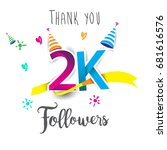 thank you design template for... | Shutterstock .eps vector #681616576