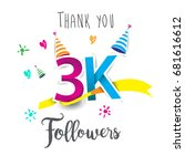 thank you design template for... | Shutterstock .eps vector #681616612