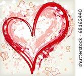 abstract grunge heart...   Shutterstock .eps vector #68162440