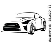 sport car vector | Shutterstock .eps vector #681630466