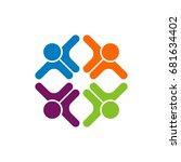 teamwork logo template | Shutterstock .eps vector #681634402