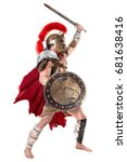 ancient warrior or gladiator... | Shutterstock . vector #681638416