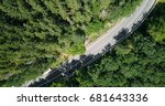 aerial view of road running... | Shutterstock . vector #681643336