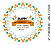 ivory coast independence day...   Shutterstock .eps vector #681646405