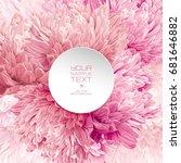 modern floral  art   luxurious... | Shutterstock .eps vector #681646882