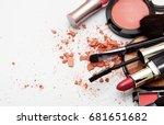 makeup. make up set | Shutterstock . vector #681651682