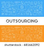 vector line web banner for... | Shutterstock .eps vector #681662092