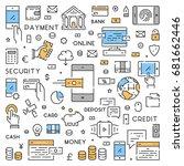 line web banner for mobile... | Shutterstock .eps vector #681662446