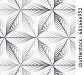 linear vector pattern ... | Shutterstock .eps vector #681666952