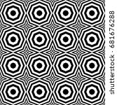 seamless pattern with black... | Shutterstock .eps vector #681676288