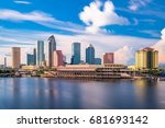 tampa  florida  usa downtown... | Shutterstock . vector #681693142