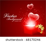 open gift present box with fly... | Shutterstock .eps vector #68170246