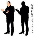 silhouette man applauding | Shutterstock . vector #681705445