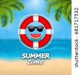 summer time background with... | Shutterstock .eps vector #681717532
