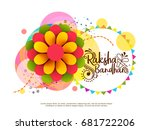 illustration greeting card with ... | Shutterstock .eps vector #681722206