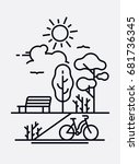 day in the park vector concept. ... | Shutterstock .eps vector #681736345