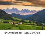 santa maddalena village in... | Shutterstock . vector #681739786