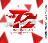 72 years logo of indonesian... | Shutterstock .eps vector #681740302