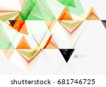 triangular low poly vector a4... | Shutterstock .eps vector #681746725