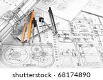 drawing detail and drawing tools | Shutterstock . vector #68174890