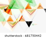 triangular low poly a4 size... | Shutterstock . vector #681750442