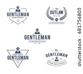vintage gentleman badge and... | Shutterstock .eps vector #681756805