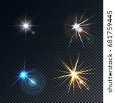 a set of four highlights  stars ... | Shutterstock .eps vector #681759445