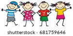 happy kids  vector icon | Shutterstock .eps vector #681759646