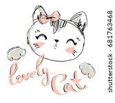 hand drawn vector illustration... | Shutterstock .eps vector #681763468