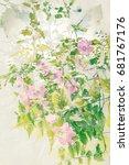 artistic  floral background | Shutterstock . vector #681767176