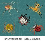 Insect Spider Nature Cartoon...