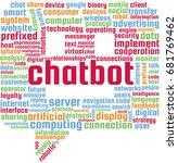 chatbot word cloud text... | Shutterstock .eps vector #681769462