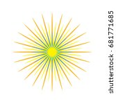 abstract sunshine  firework ... | Shutterstock .eps vector #681771685